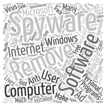 easier: Remove Spyware 1 text background wordcloud concept Illustration