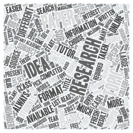 topic: Research Paper Topic Ideas text background wordcloud concept