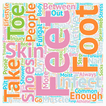 granted: Put Your Best Foot Forward for a Great Feat text background wordcloud concept