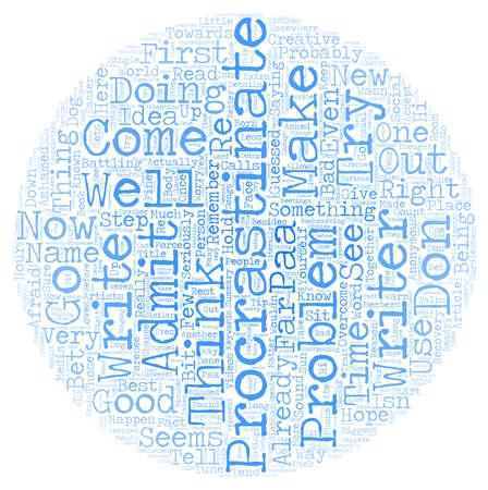 anonymous: Procrastinators Anonymous PAA text background wordcloud concept