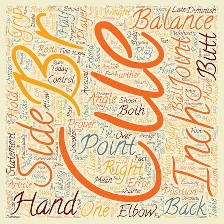 Proper Cue Balance text background wordcloud concept