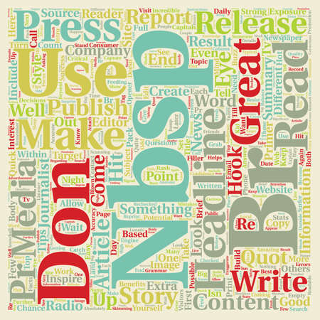 Press Release Primer text background wordcloud concept