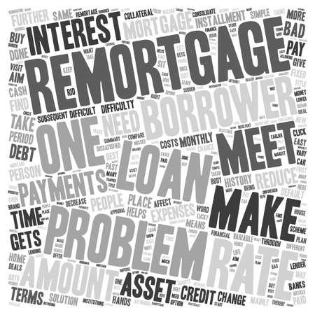 Problem Remortgage text background wordcloud concept