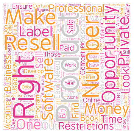 resell: Private Label Resell Rights What You Need to Know 1 text background wordcloud concept Illustration