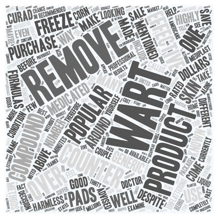wart: Popular Over the Counter Wart Removers text background wordcloud concept Illustration