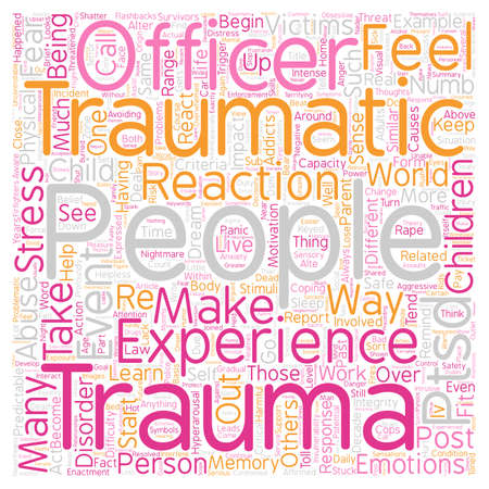 disorder: Post Traumatic Stress Disorder PTSD What Is It text background wordcloud concept