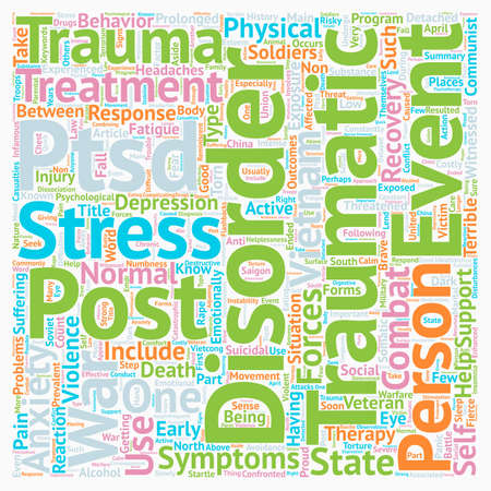 prevalent: Post Traumatic Stress Among Soldiers text background wordcloud concept