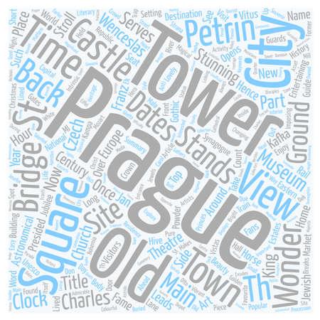 unesco: Prague City Guide text background wordcloud concept