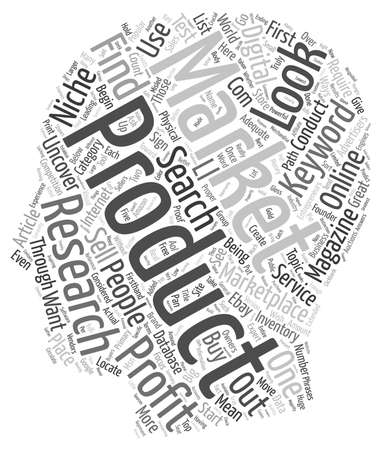 profiting: Powerful Ways to do Market Research and Uncover a Profitable Niche for Free text background wordcloud concept