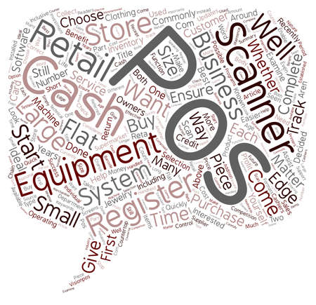 retailers: Pos Equipment Not Just For Large Retailers text background wordcloud concept Illustration