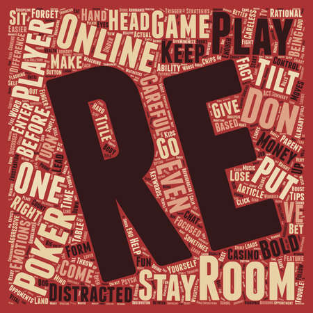 psych: Online Poker Room Psych 101 text background wordcloud concept