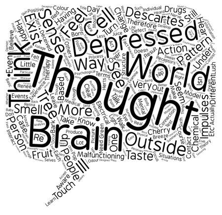 mental illness: Philosophy And Mental Illness text background wordcloud concept Illustration