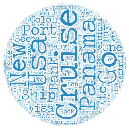 Panama Gets a New Cruise Port in Colon text background wordcloud concept
