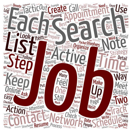 organize: Organize Your Job Search text background wordcloud concept