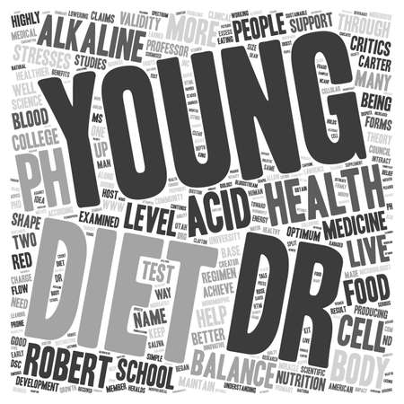 creator: pH miracle diet creator Robert Young text background wordcloud concept Illustration