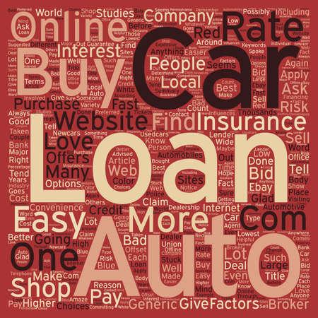 car loans: Online Car Loans text background wordcloud concept