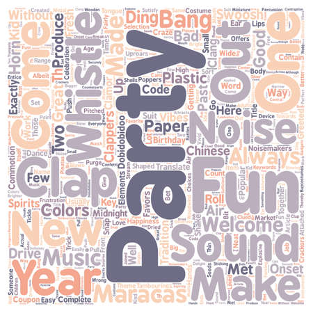 commotion: Party Sounds And Uproars text background wordcloud concept