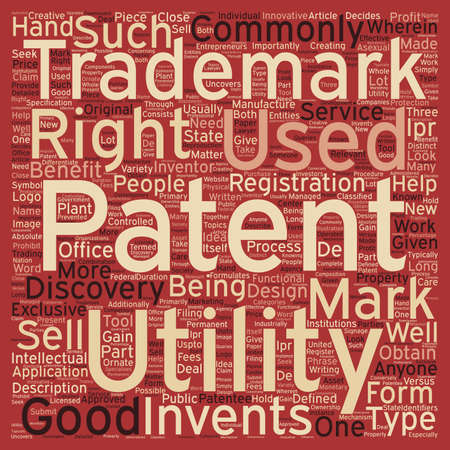 identifiers: patent trademark text background wordcloud concept