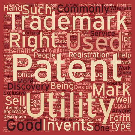 identifiers: patent trademark text background wordcloud concept