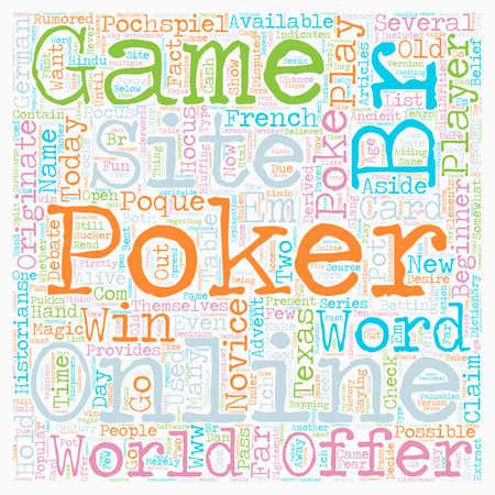 online poker site text background wordcloud concept Illustration