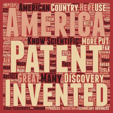 patents: Patents American Greatness text background wordcloud concept