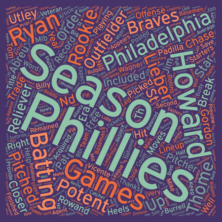remained: Philadelphia Phillies Preview text background wordcloud concept Illustration