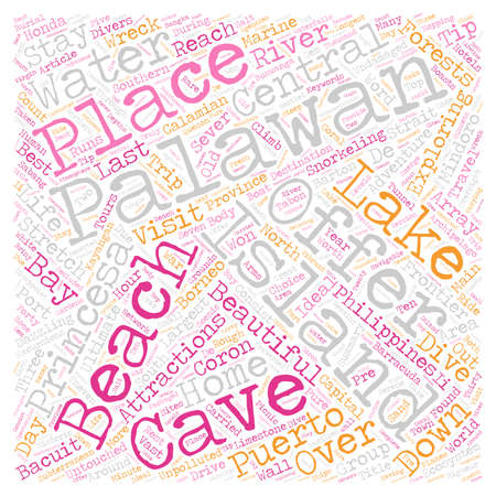 frontier: Palawan The Last Frontier text background wordcloud concept
