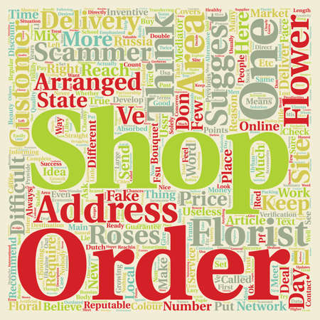 recommendations: Online Flower Concerns text background wordcloud concept