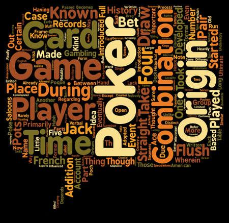 poker text background wordcloud concept