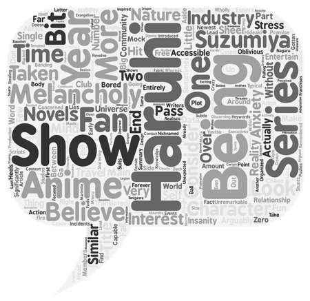 coordinated: Organized Chaos A Look Into The Melancholy of Haruhi Suzumiya text background wordcloud concept