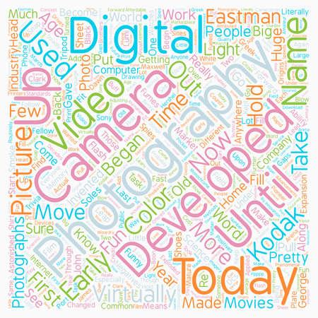 Photography Through the Ages text background wordcloud concept Illustration