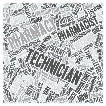 opportunity concept: Pharmacy Technician A Great Career Opportunity text background wordcloud concept