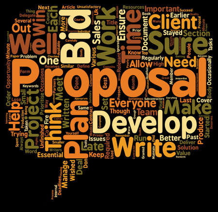 Plan Your Propsal And You Plan To Win text background wordcloud concept