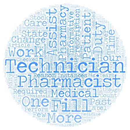 instances: Pharmacy Technician A Closer Look text background wordcloud concept Illustration