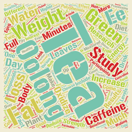 Oolong Tea and Weight Loss text background wordcloud concept