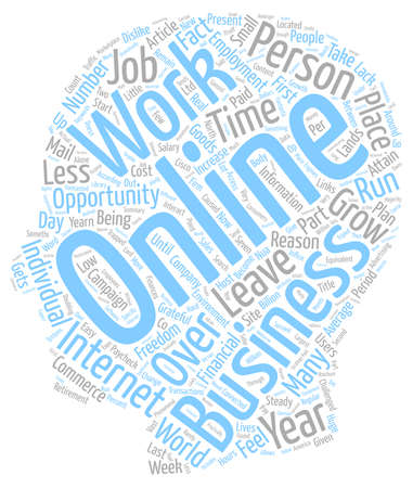 opportunity concept: Online Opportunity To Attain Financial Freedom text background wordcloud concept