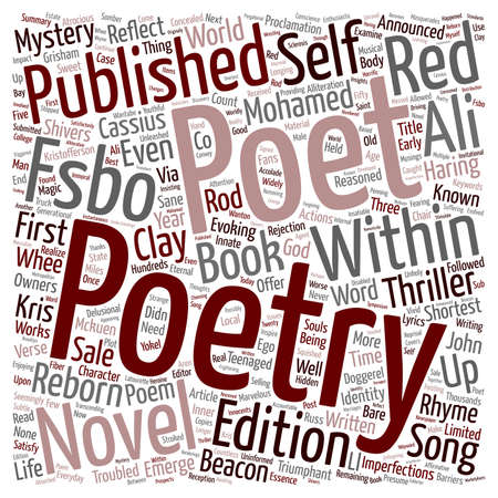Poetry Reborn Emerges In Thriller Mystery Novel text background wordcloud concept