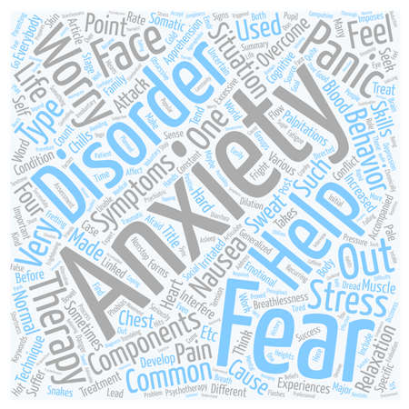 Overcome Your Anxiety text background wordcloud concept