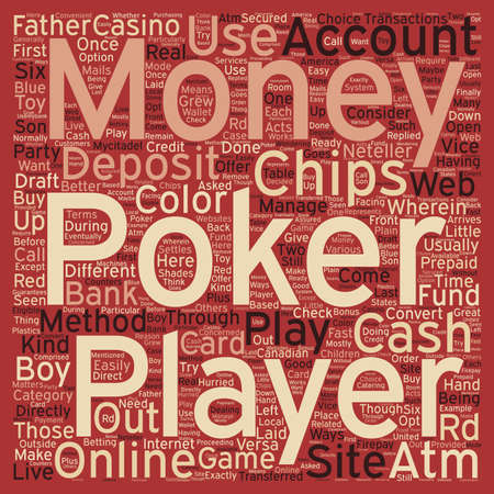 hurried: pokermoney text background wordcloud concept Illustration
