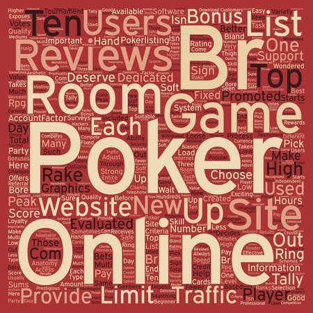 online poker reviews 1 text background wordcloud concept Illustration