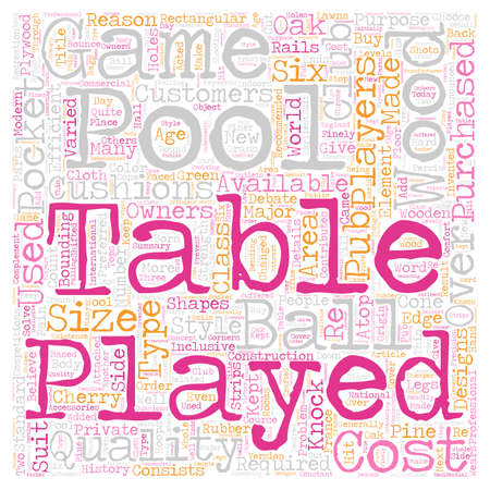 pool tables: Pool Tables Which Type Should You Choose text background wordcloud concept