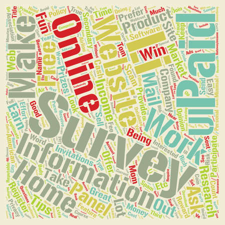 secondary: Paid Surveys Tips to Work From Home and Make Secondary Income text background wordcloud concept