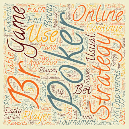 leverage: online poker strategy text background wordcloud concept