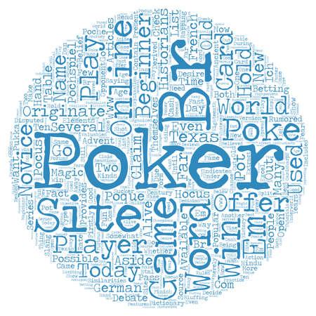 online poker site 1 text background wordcloud concept