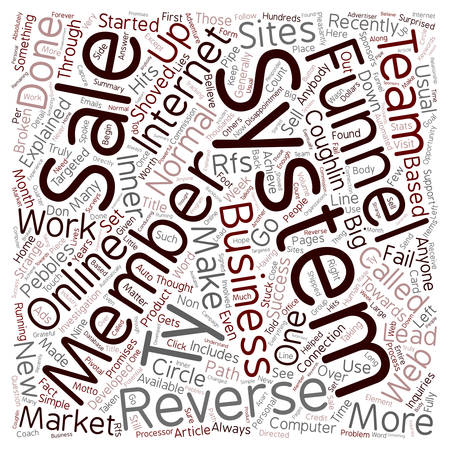 opportunity concept: Online Business Opportunity With The Reverse Funnel System text background wordcloud concept