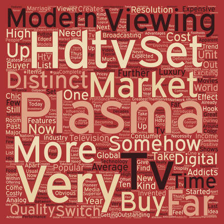 plasma hdtv text background wordcloud concept Ilustração