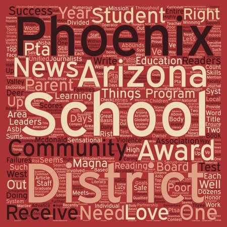 numerous: Phoenix Schools Receive Numerous Accolades text background wordcloud concept