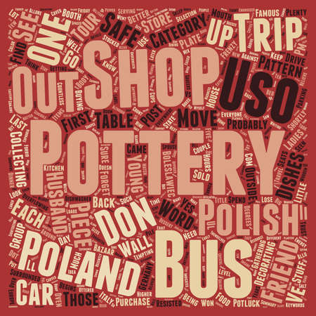 came: Polish Pottery text background wordcloud concept