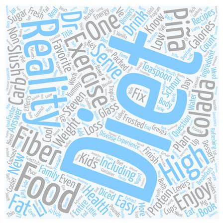 colada: Pina Colada Slush text background wordcloud concept