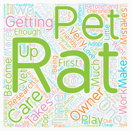 mistakes: Pet Rat Care The Top Mistakes Of New Rat Owners text background wordcloud concept